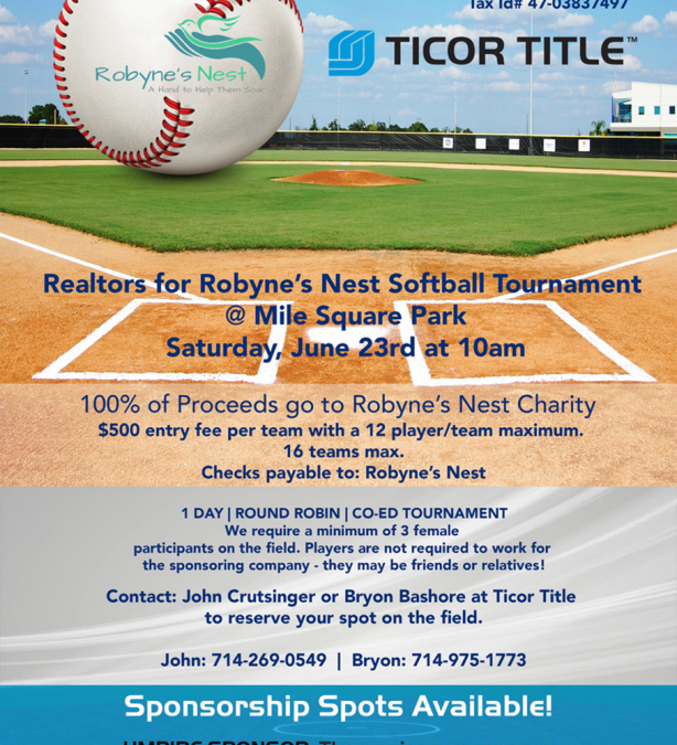 Realtors for Robyne's Nest Softball Tournament
